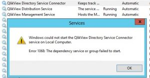 QlikView Directory Service fails to start