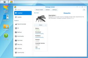 Mosquitto running on Synology DS1515+